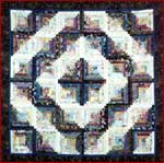 Log Cabin Watercolor Quilt Top Kit
